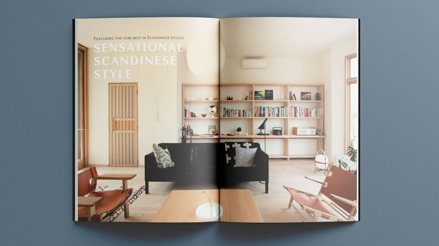 Scandinese Magazine Spread