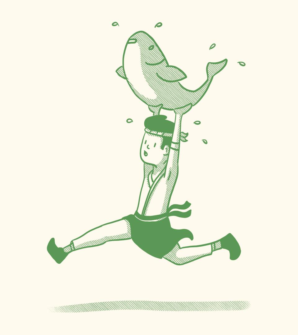 Bittyfish Sushi Chef Illustration