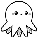 Octo logo - a cute octopus