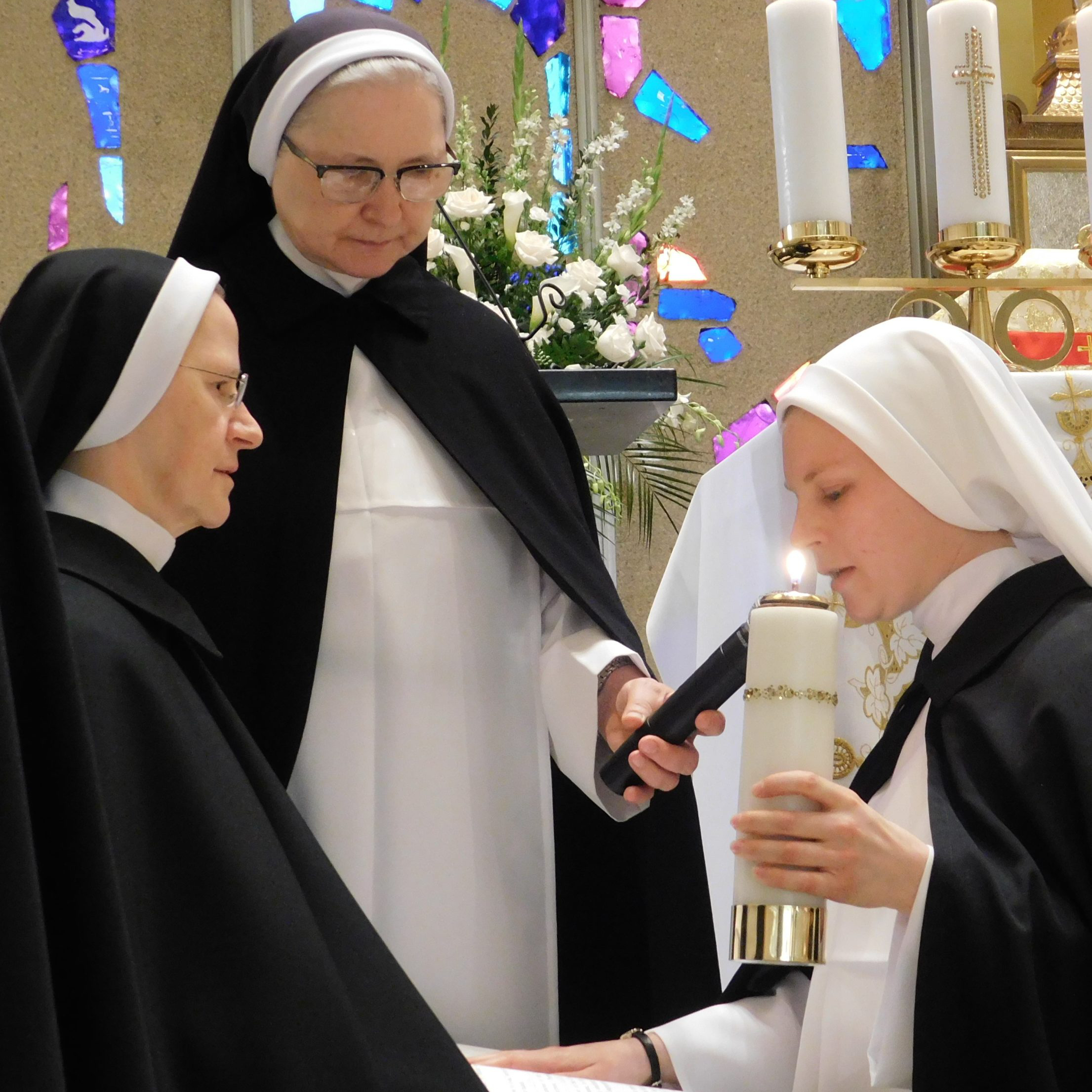 A Sister making her first vows.