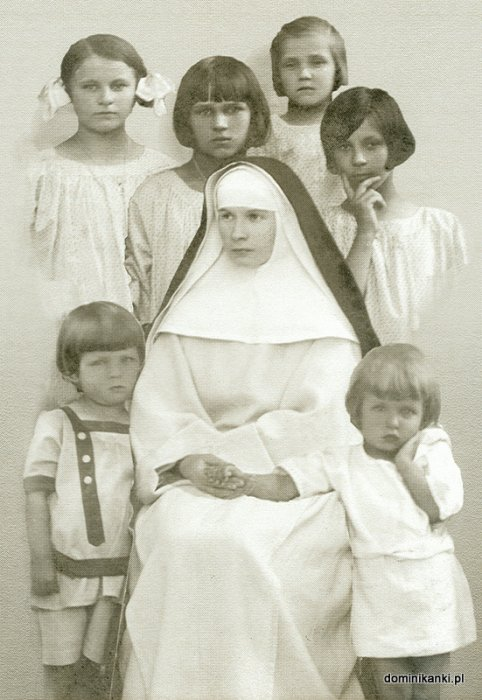 Blessed Julia with the orphans.