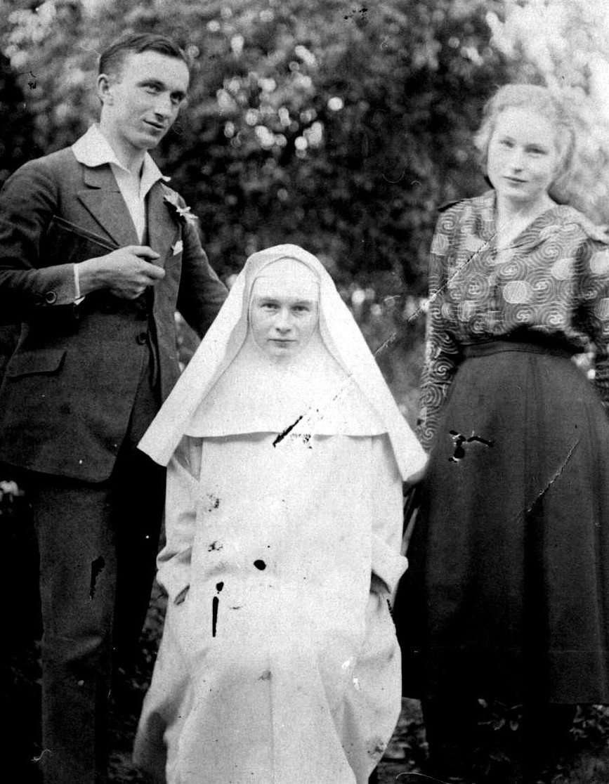 Blessed Julia as a novice with her siblings.