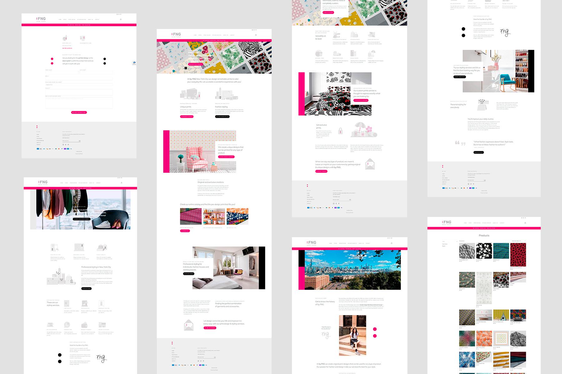 Diseño web | byFNG.com | NYC | Portafolio | Pamelamachado.com