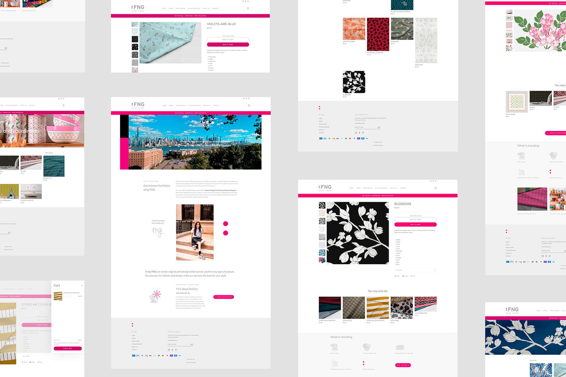 byFNG.com | e-commerce | Pamela Machado | Portafolio