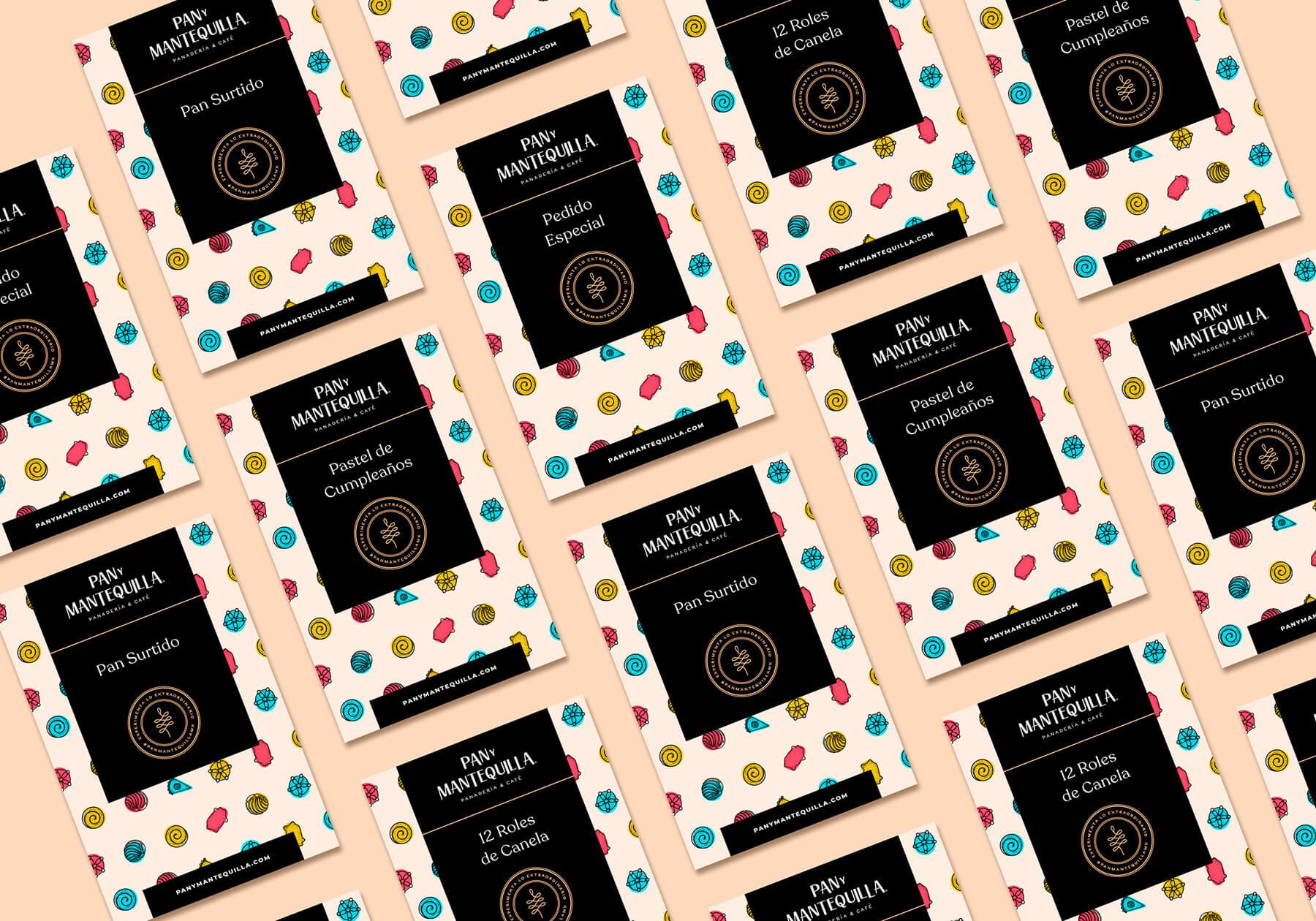 Etiquetas de Pastel - Pan y Mantequilla - Pamela Machado Portafolio
