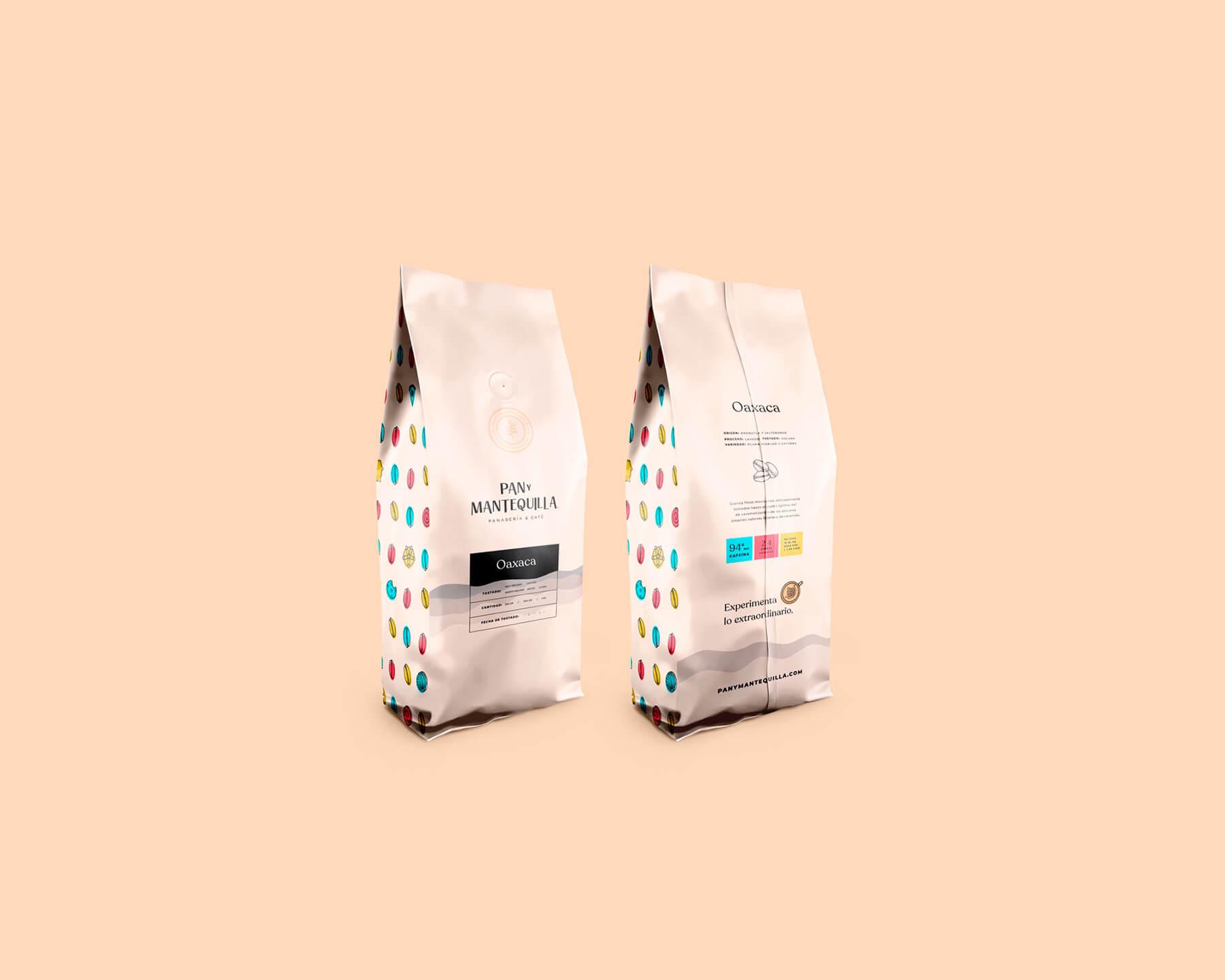 Bolsas de café - Pan y Mantequilla - Identidad Visual