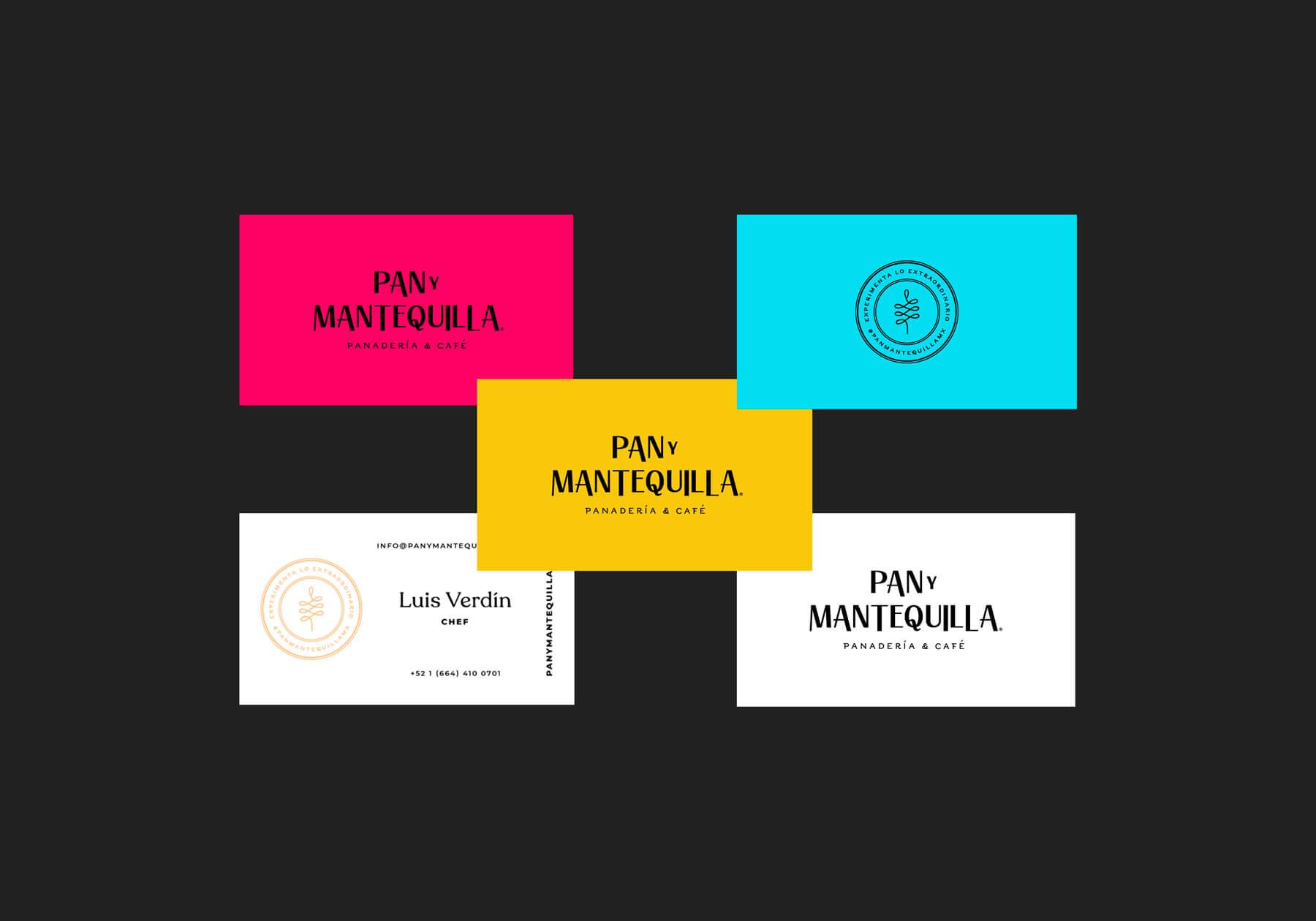 Tarjetas de presentación - Pan y Mantequilla - Identidad Visual - Pamela Machado Portafolio