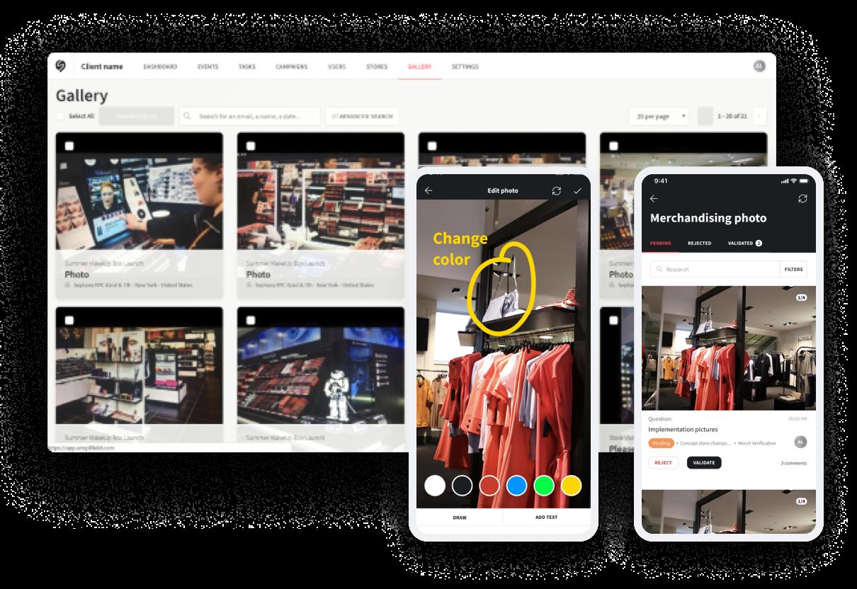 Visual merchandising using SimpliField