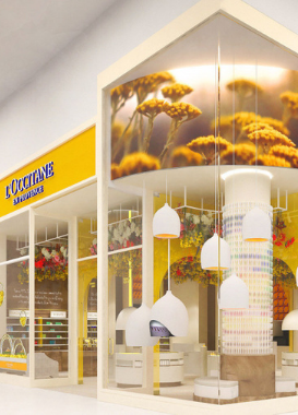 Entrance to L'Occitane in a shopping center