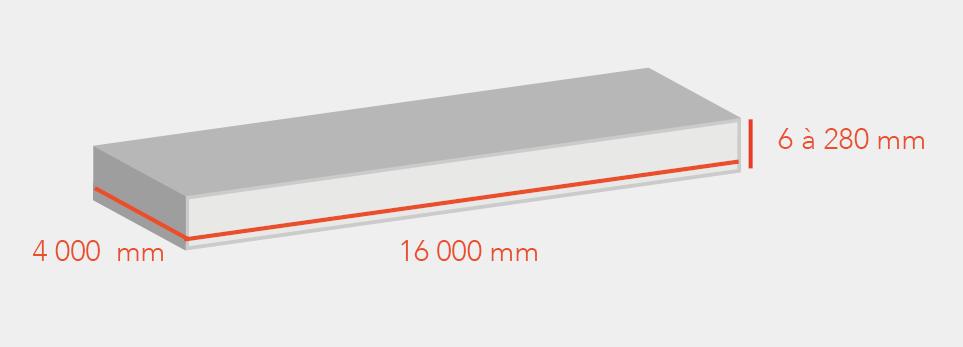 image de dimensions des tôles en oxycoupage