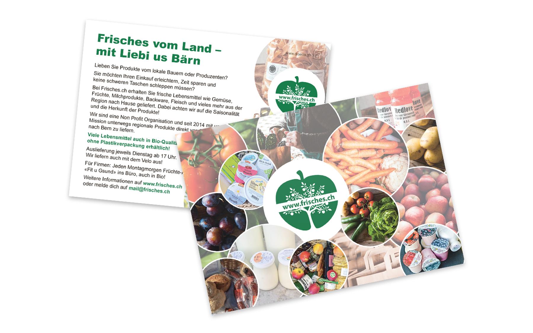 Kundenprojekt Flyer Frisches.ch