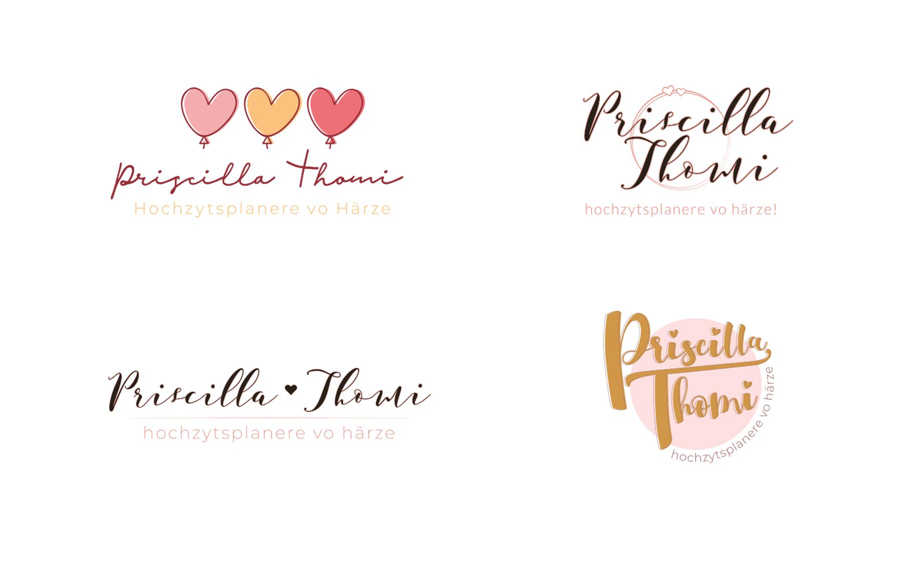 Entwürfe Kundenprojekt Logogestaltung P. Thomi