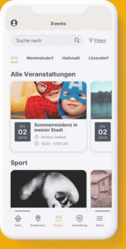 Screenshot meinOrt app