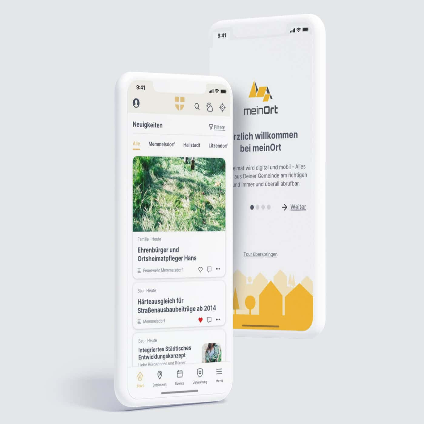 Project meinOrt App Preview