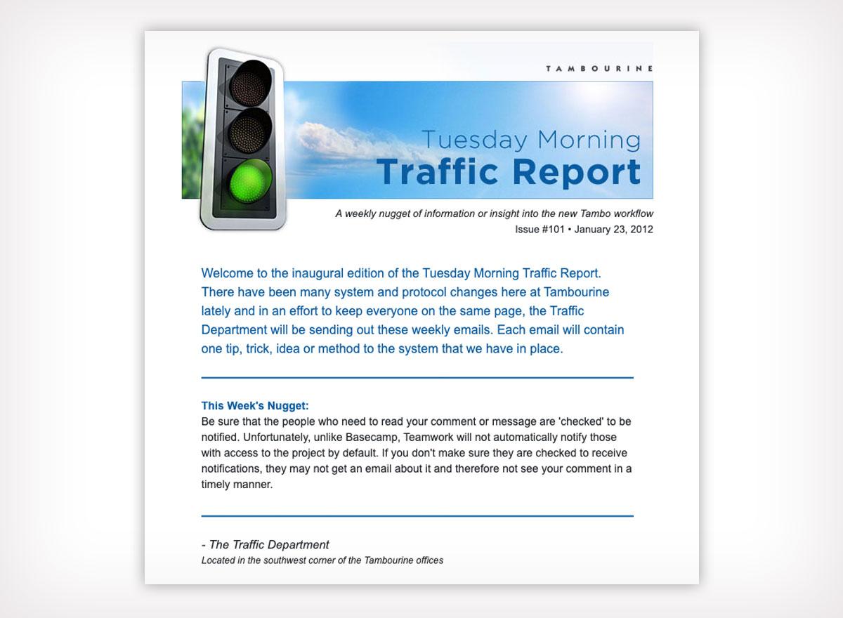 Weekly Traffic Report