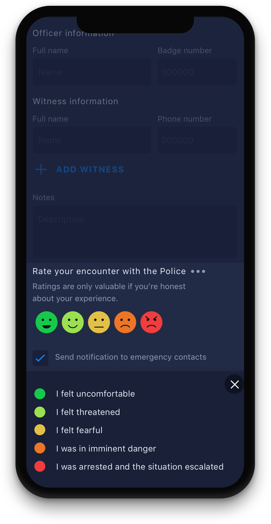 Cavalry App  police ratings