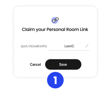 Claim your Personal Room Link preview