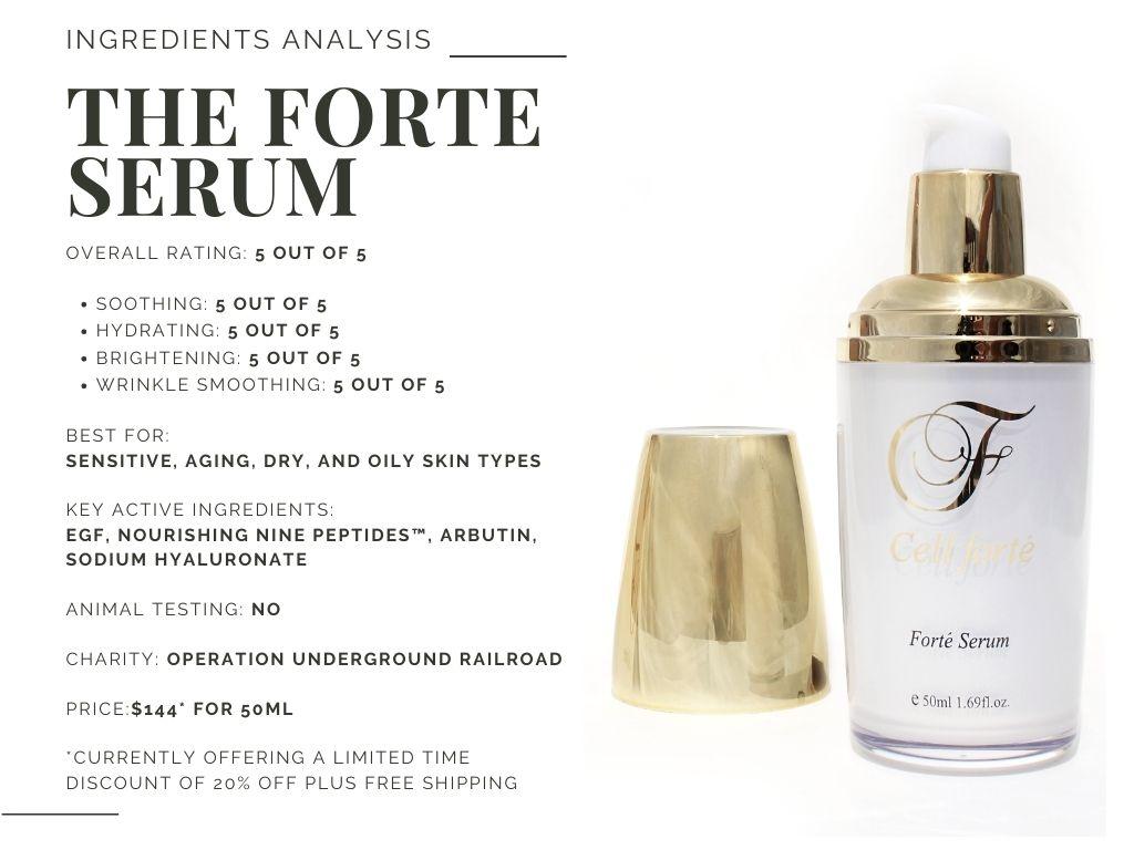 cell forte skincare the forte serum
