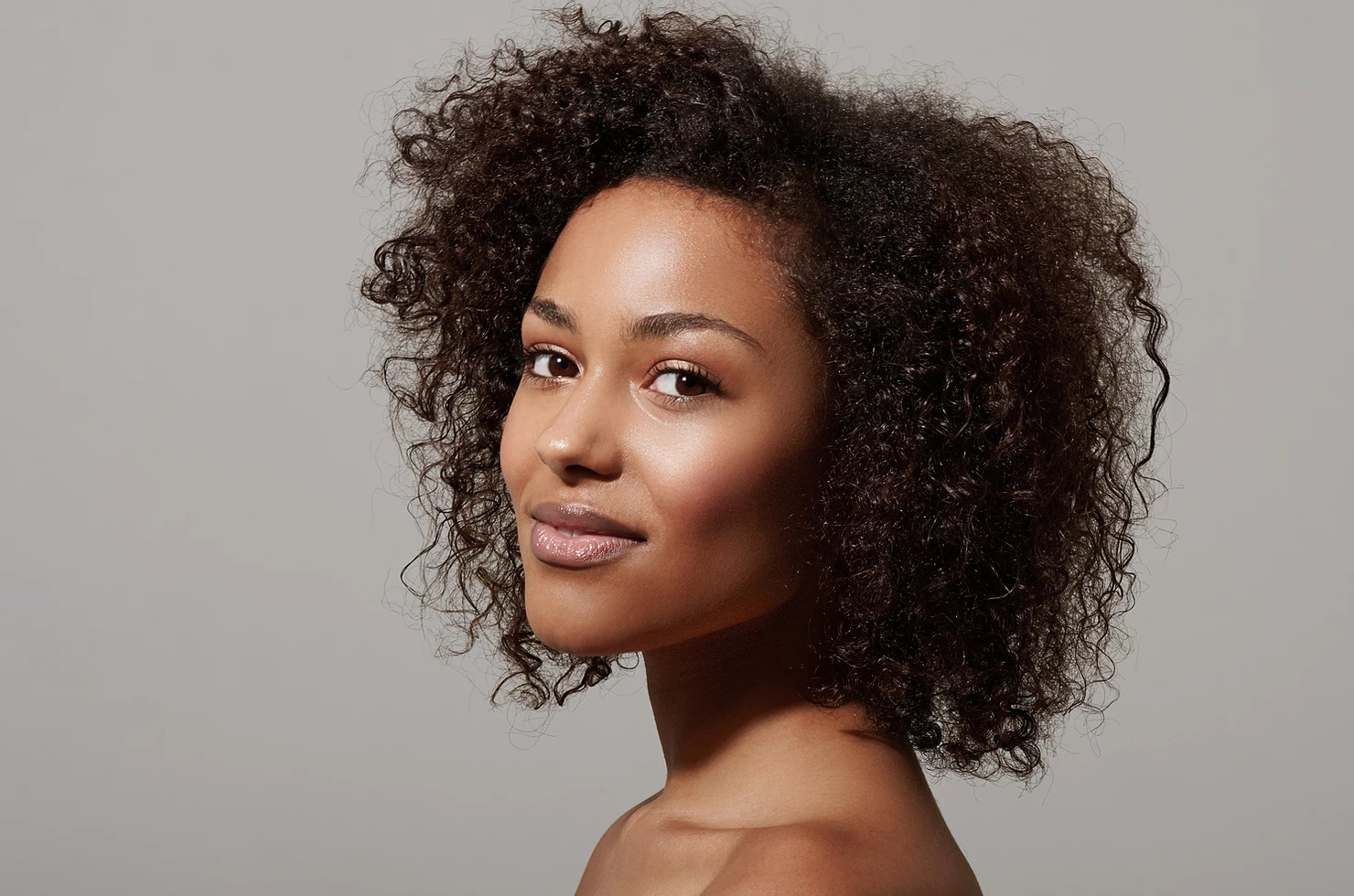 african american model with radiant skin