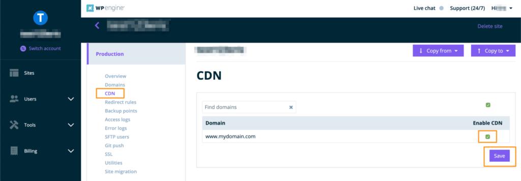 cdn features on wpengine