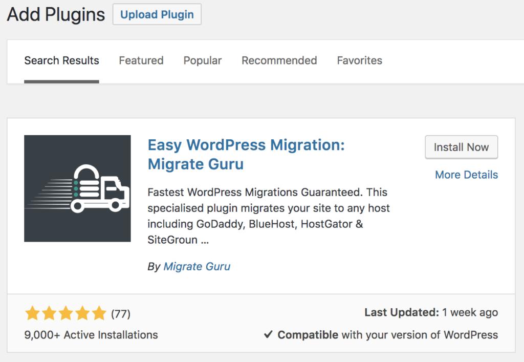 migrateguru plugin for wpengine website migration