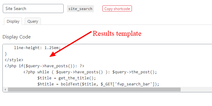 query result template on facetwp wordpress plugin