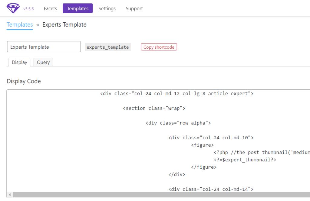 facetwp wordpress plugin templates