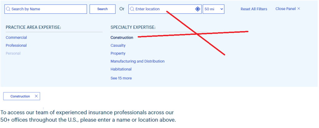 additional facet search filters