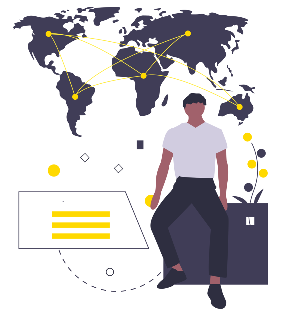 dots connecting the world illustration