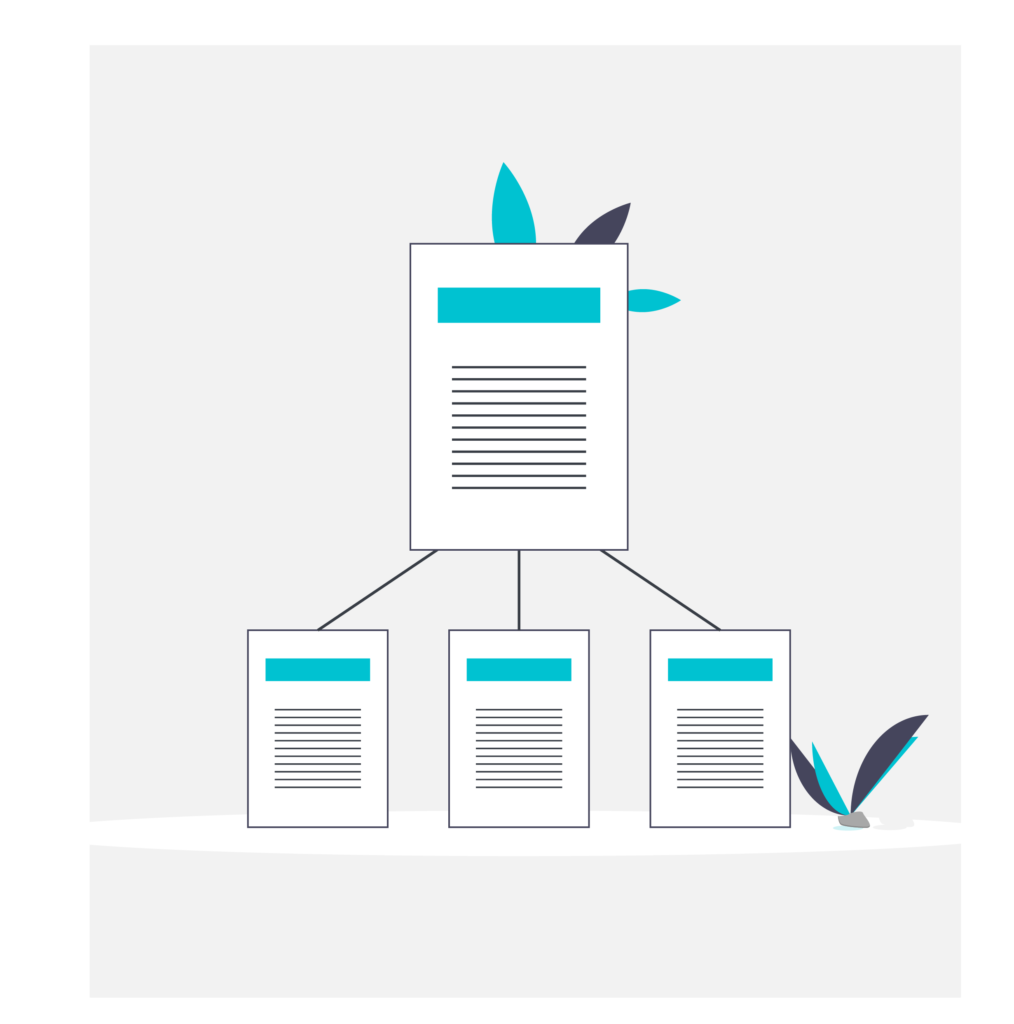 hierarchical file system illustration