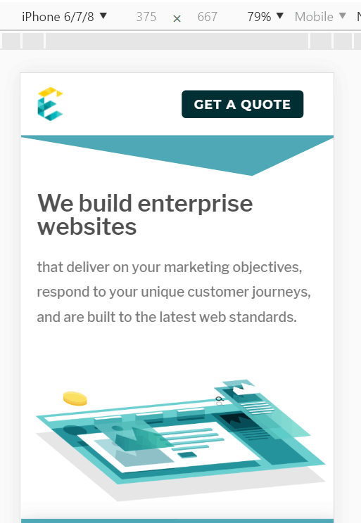exemplifi we build enterprise websites responsive design page