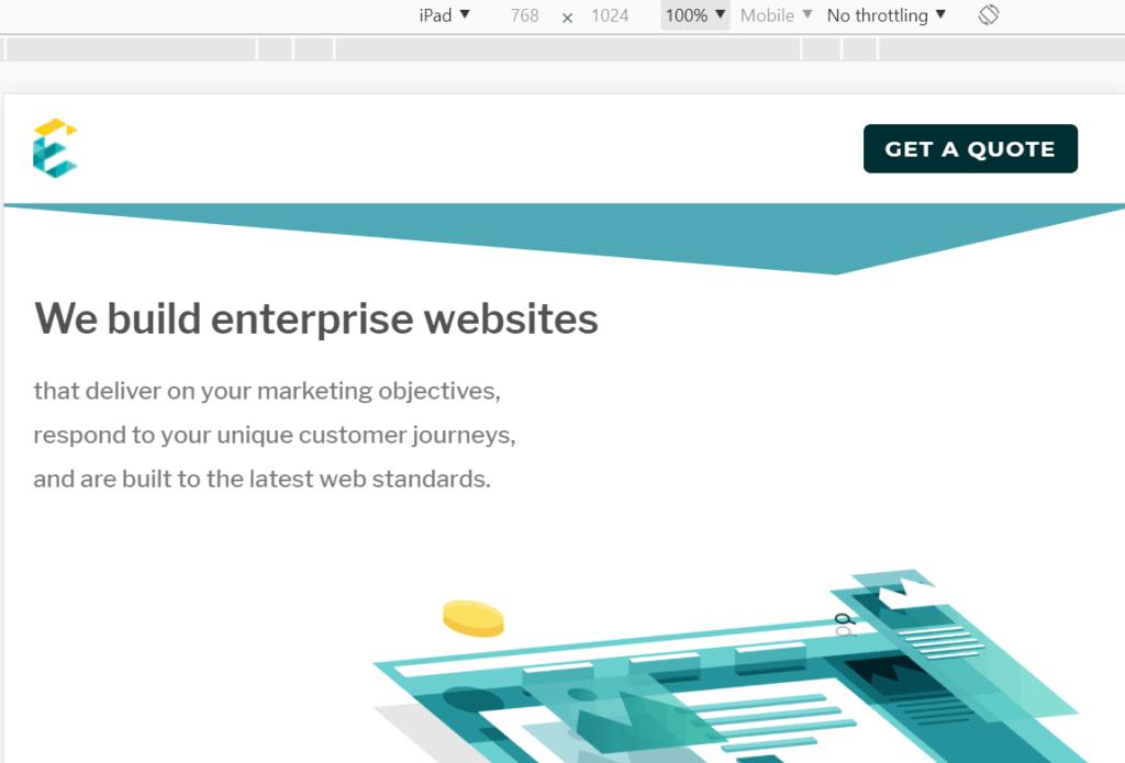 exemplifi we build enterprise websites desktop page