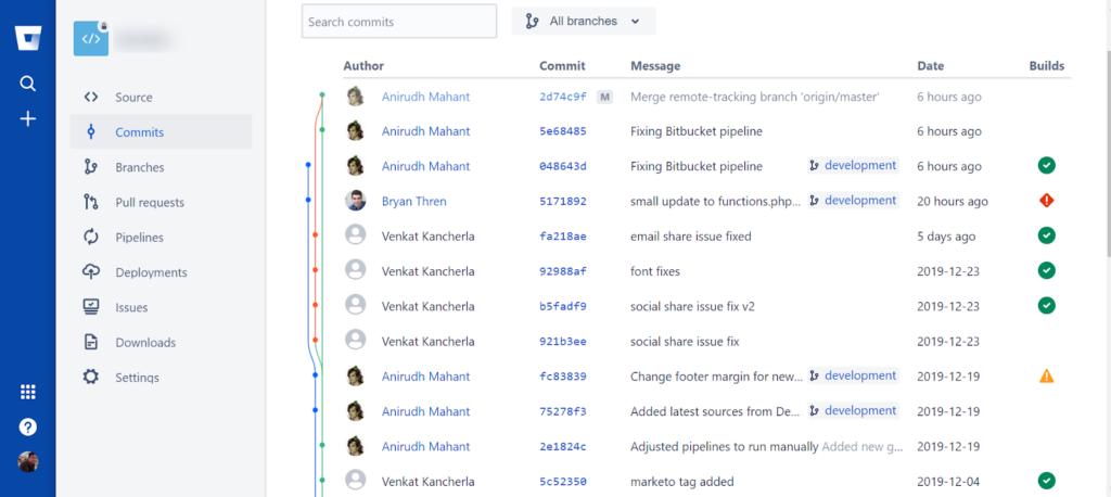 implementation in bitbucket sample