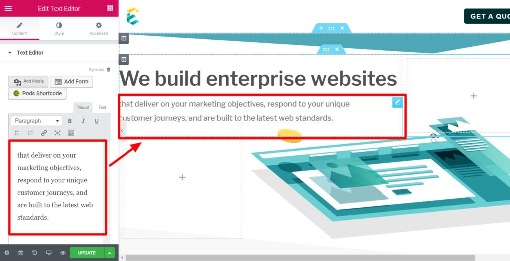 exemplifi text editing tool screenshot