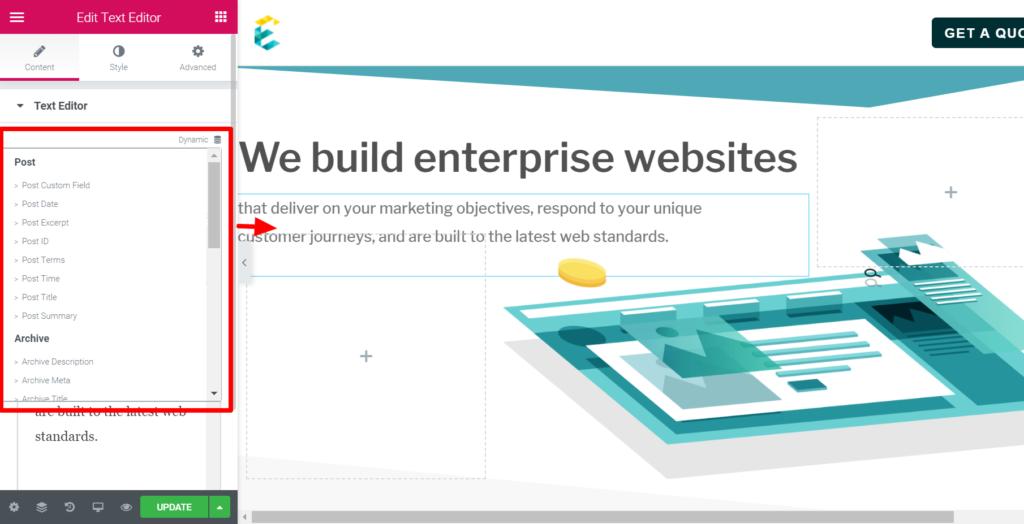 exemplifi website edited in wordpress