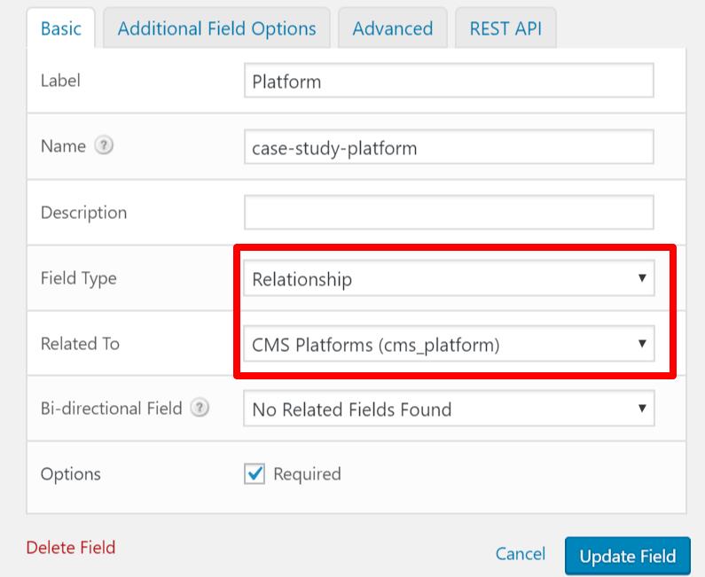 platform relationship mapping in wordpress