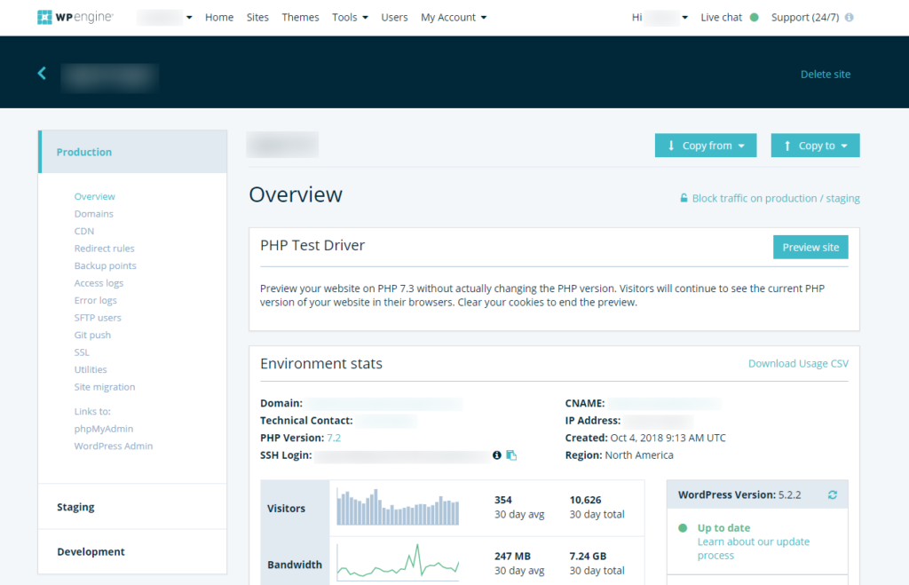 WP engine overview