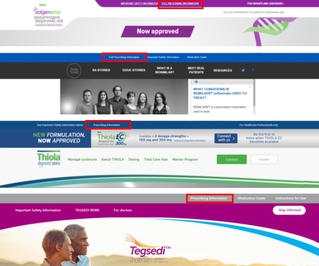 pharma website front page