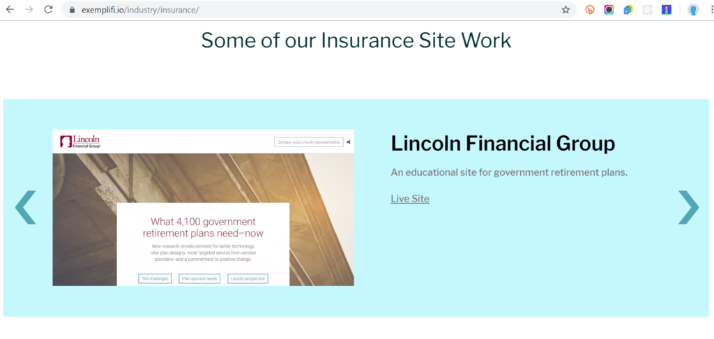 insurance page sample