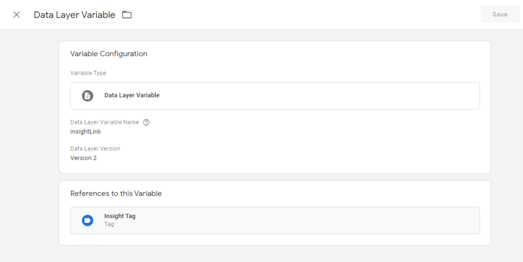 variable tag in GTM