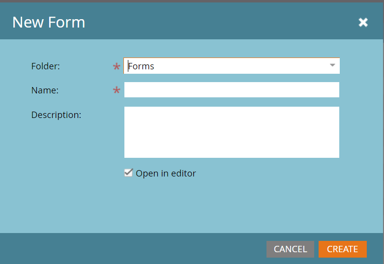 marketo new form screen