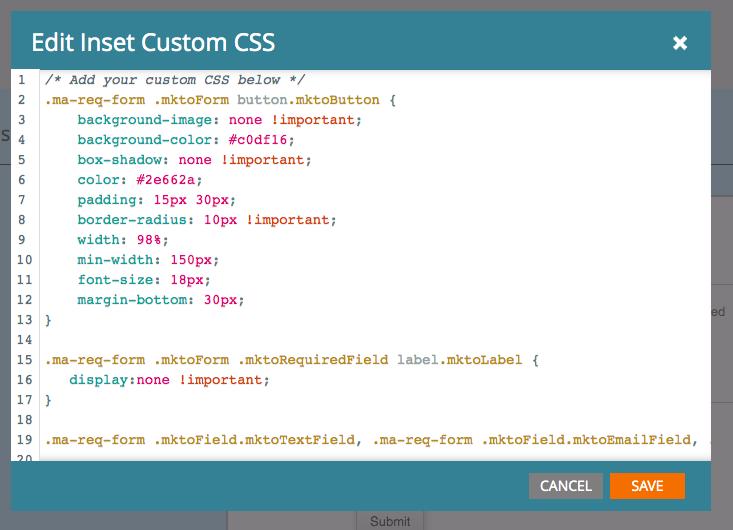 custom CSS snippet