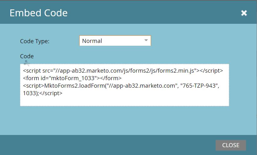 marketo code snippet
