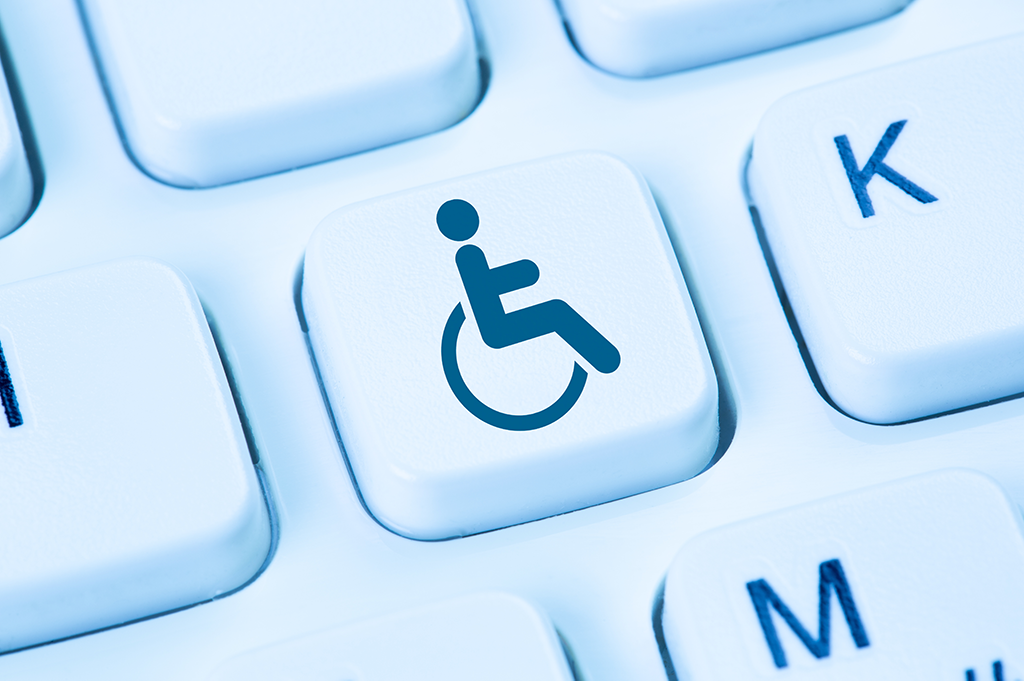 wheelchair button on keyboard