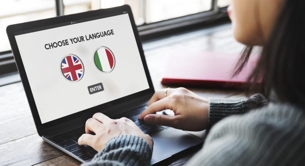 language screen