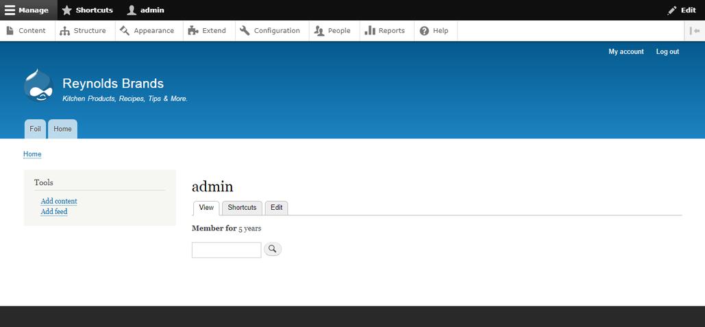 drupal cloud ide admin screen