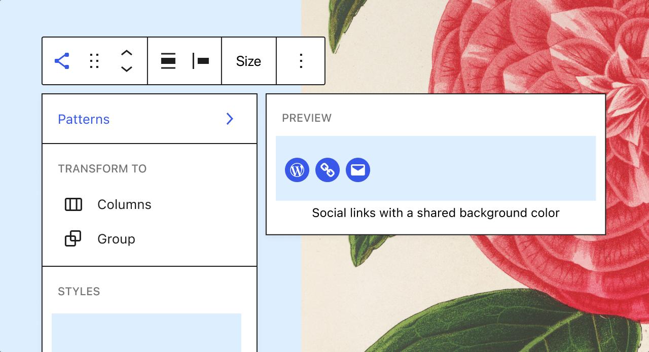 wordpress block pattern suggestions