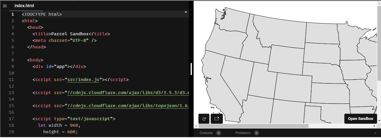 D3 topojson geodata visualization