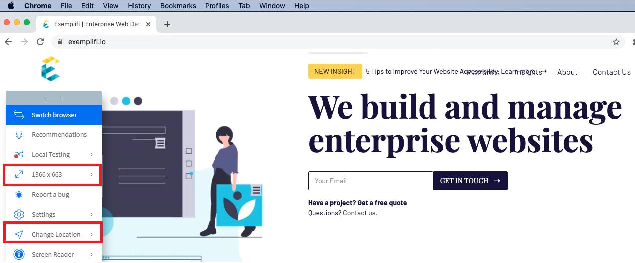 breakpoints on desktop websites