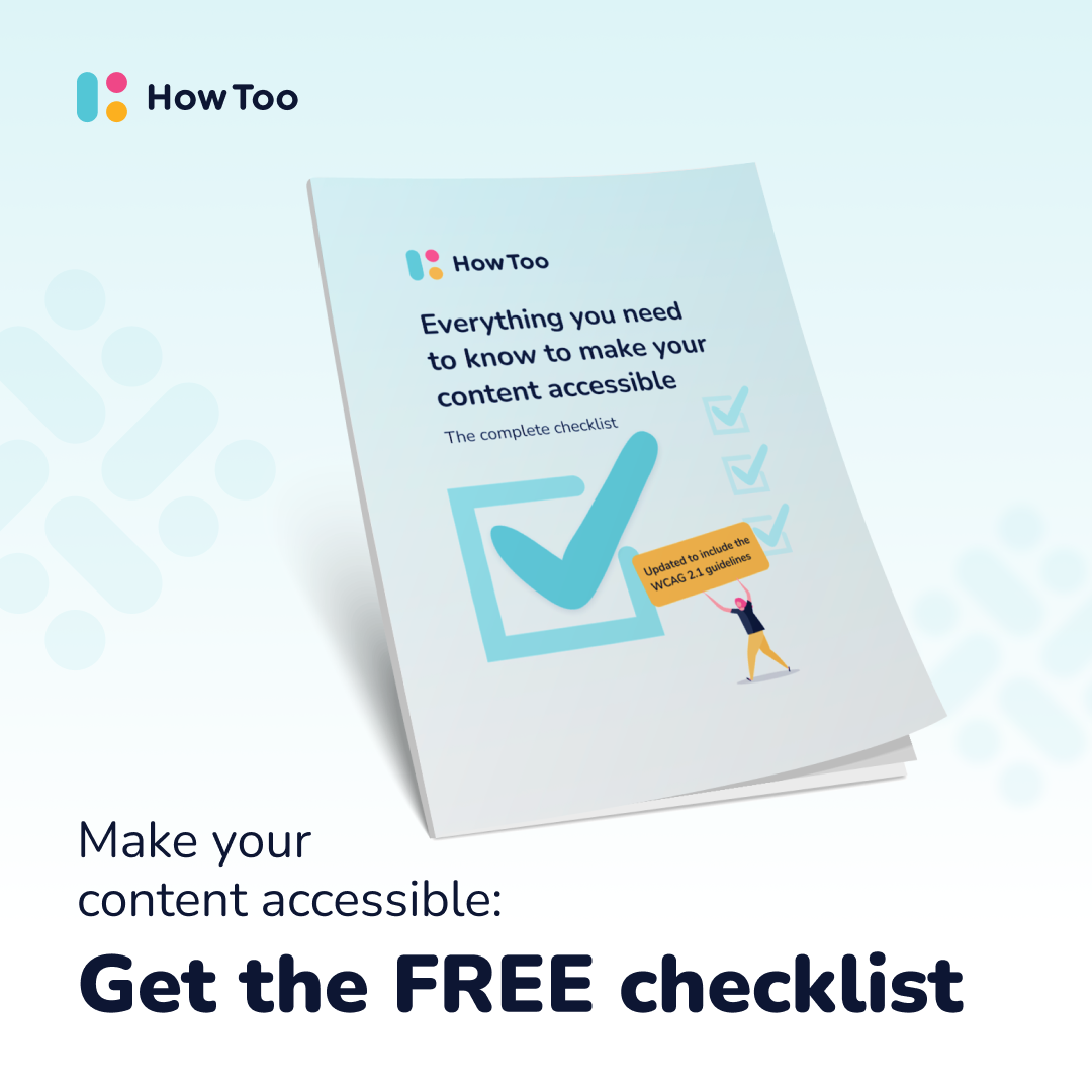 Free download: Everything you need to make your content accessible